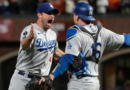 Max Scherzer strikes out Wilmer Flores to seal Dodgers' 2-1 victory over Giants in game five of NLDS